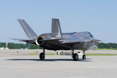 F-35 Lightning. II Aircraft getting ready to take off Stock Photo