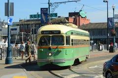 F-line Antique streetcar, San Francisco, USA Stock Images