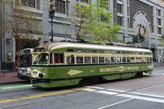 F-line Antique streetcar, San Francisco, USA Stock Photos