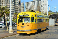 F-line Antique streetcar, San Francisco, USA Royalty Free Stock Images