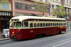 F-line Antique streetcar, San Francisco, USA Stock Photos