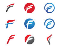 F listu loga szablon Obrazy Stock