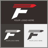 F logo. Attractive F logo with pencil shape Royalty Free Illustration