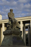 F.M.Dostoevsky Denkmal an der russischen Zustand-Bibliothek stockfotografie