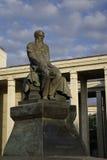 F.M.Dostoevsky monument bij de Russische Lib van de Staat Stock Fotografie