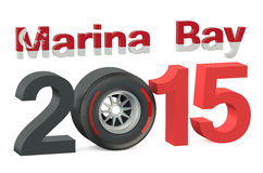F1 Marina Bay Race 2015 Stock Image