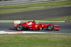 F. Massa in de praktijkdag van Monza 2012. Stock Foto's