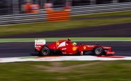 F. Massa en jour de pratique en matière de Monza 2012. Image libre de droits
