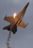 F-18 met gloed Stock Fotografie