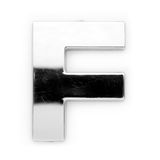 F - Metal letter Royalty Free Stock Images