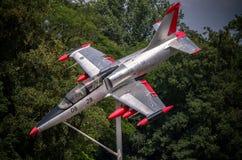 F-16 militair vliegtuig Stock Afbeelding