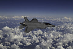 F-35 modern stealth fighter Stock Photography