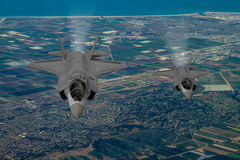 F-35 modern stealth fighter Royalty Free Stock Photo