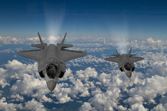 F-35 modern stealth fighter Royalty Free Stock Photography