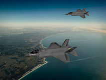 F-35 modern stealth fighter Stock Image