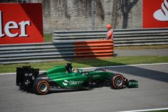 2014 F1 Monza Caterham CT05 - Kamui Kobayashi Photo stock