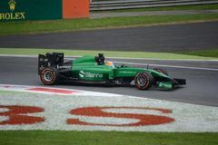 2014 F1 Monza Caterham CT05 - Roberto Merhi Photo libre de droits