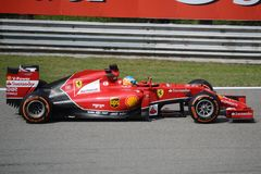 2014 F1 Monza Ferrari F14 T Fernando Alonso Photographie stock libre de droits