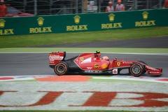 2014 F1 Monza Ferrari F14 T Kimi Raikkonen Obrazy Stock