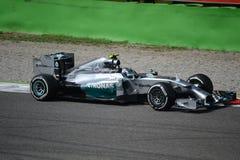 2014 F1 Monza Mercedes W05 - Nico Rosberg Imágenes de archivo libres de regalías