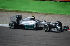 2014 F1 Monza Mercedes W05 - Nico Rosberg Royalty Free Stock Images