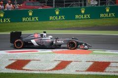 2014 F1 Monza Sauber E22 - der Garde da camionete de Giedo Imagem de Stock Royalty Free