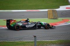 2014 F1 Monza siła India VJM07 - Sergio Pérez Obraz Stock