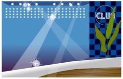 F-nattklubb royaltyfri illustrationer