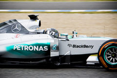 F1: Nico Rosberg, ομάδα Mercedes Στοκ Εικόνα