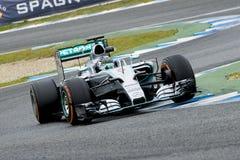 F1: Nico Rosberg, ομάδα Mercedes Στοκ Εικόνες