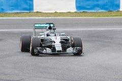 F1: Nico Rosberg, ομάδα Mercedes Στοκ Φωτογραφία