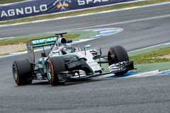 F1: Nico Rosberg, ομάδα Mercedes Στοκ εικόνα με δικαίωμα ελεύθερης χρήσης