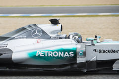 F1: Nico Rosberg, ομάδα Mercedes Στοκ Φωτογραφίες