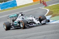 F1: Nico Rosberg lag Mercedes Royaltyfria Foton