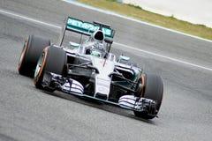 F1: Nico Rosberg lag Mercedes Arkivfoton