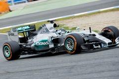 F1: Nico Rosberg lag Mercedes Royaltyfria Bilder