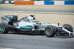 F1: Nico Rosberg lag Mercedes Fotografering för Bildbyråer