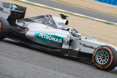 F1: Nico Rosberg lag Mercedes Royaltyfri Fotografi
