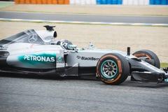 F1: Nico Rosberg lag Mercedes Royaltyfri Foto