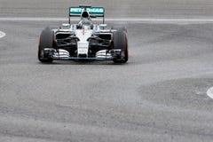 F1: Nico Rosberg, team Mercedes. JEREZ DE LA FRONTERA, SPAIN - FEBRUARY 03: Nico Rosberg, pilot of the team Mercedes in test Formula 1 in Circuito de Jerez on Stock Photography