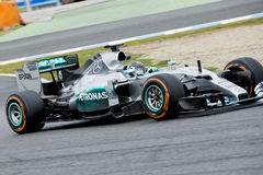 F1: Nico Rosberg, team Mercedes Royalty Free Stock Images