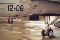 F18 nosewheel Royalty Free Stock Image