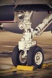 F18 Nosewheel szczegół Obraz Royalty Free
