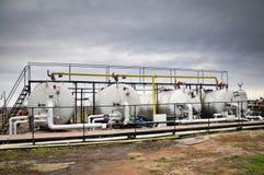 förädling för olja för gasindustrier Arkivbilder