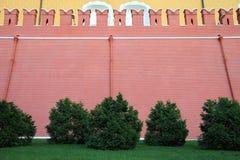 för kremlin för tegelsten hög vägg red Royaltyfri Fotografi