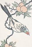 för målningstempel för fågel kinesisk vägg Arkivfoto