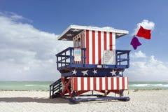för miami för strandhuslivräddare sommar plats Royaltyfri Fotografi