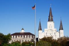 för New Orleans för domkyrkalouis museum tillstånd st fotografering för bildbyråer