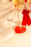 för orienteringsservetter för cand celebratory tabell för red Arkivbilder