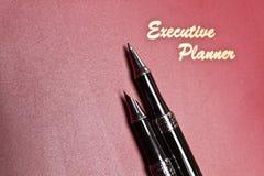för pennplanner för ledare ii serie Arkivbilder